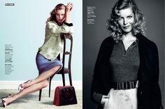 Flirty Pin-Up Editorials : L'Express Styles December 2013