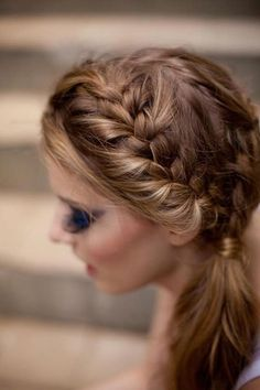 Try this double braid look for your next night on the town!