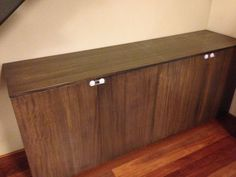 Solid low profile side cabinet