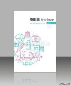 Medical Brochure Cover Graphic Design 66 Ideas For 2019 - Books Worth Reading Book Cover Design, Book Design, Layout Design, Clinic Interior Design, Colorful Interior Design, Brochure Cover, Brochure Design, Branding Design, Medical Brochure