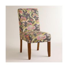 Cost Plus World Market Gray Floral Anna Slipcover (€22) ❤ liked on Polyvore featuring home, furniture, chairs, accent chairs, yellow, grey chair, floral chair, slipcover chair, floral accent chair and grey furniture