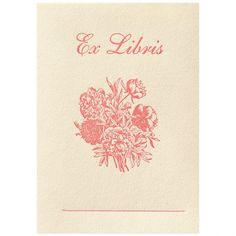 Greer Chicago | Product Detail | Jonathan Wright Peonies Bookplate