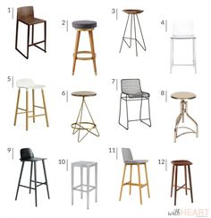 Modern Barstool Options - withHEART
