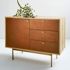 Michael Robbins Leather Front Buffet - Small | west elm