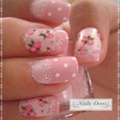 uñas decoradas con rosas - Buscar con Google