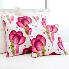 Pine Cone Hill Happy Poppies Pink Decorative Pillow