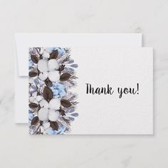 Thank you card winte