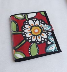 JW Field Service Organizer-Bright Red Floral Fabric by BelloCovers