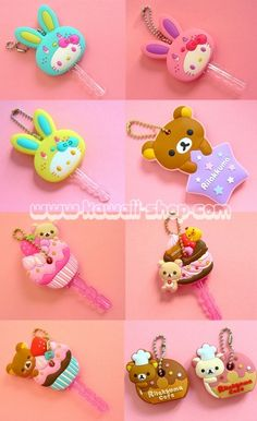 Dress up your key chain with these sweet Sanrio key caps~!
