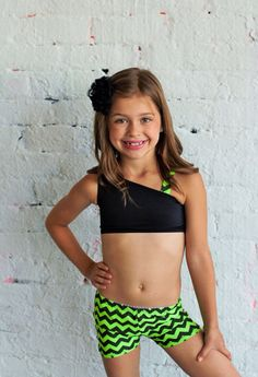 Chevron print. Pink and black. Spandex by CarissasTutuCouture, $24.00