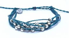 Platinum Teal - LOVE these pura vida bracelets and it's for a great cause!