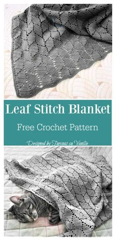 Leaf Stitch Baby Blanket Free Crochet Pattern