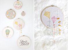 Sweet nursery wall #baby #nursery #decor