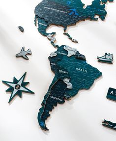 3D Wooden World Map, Color: EMERALD. Wood World Map is a unique wall décor idea for your home! World Travel Map, Push Pin Map, Travel Map with Pins. Wood World Map can be used as a travel map. Pin board for your loft decor ideas, business development places, travel destination and just random notes of happiness. Large wall art decor and a place for inspiration! #woodenwalldecor #wallart #nurserydecor