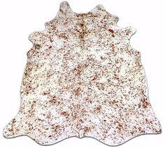 Dark Brown and white Cowhide Rug Size: 7.6 X 6.2' Longhorn Printed Cow Hide Rug  #CowhidesUSA #Contemporary