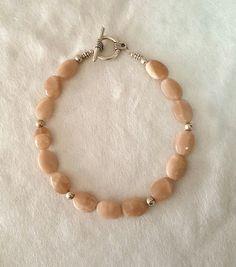 Rose Quartz Bracelet/Natural Rose Quartz Jewelry /Native American Jewelry/Genuine Gemstone Bracelet/Navajo Indian Made