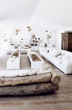 sturbock - wooden sofa, white, clear