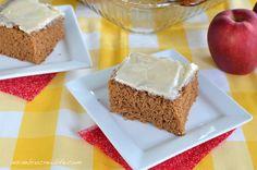 Apple Butter Cake - a delicious spice cake made with apple butter and topped with a brown butter vanilla glaze http://www.insidebrucrewlife.com