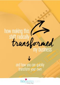 How Making This Shift Radically Transformed My Business And How It Can Transform Yours // Fabi Paolini -- Home Based Business, Business Tips, Online Business, Business Branding, Business Quotes, Creative Business, Make Money Blogging, How To Make Money, Online Entrepreneur