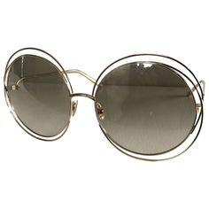 6fcd9086f81441 gold Plain Plastic CHLOÉ Sunglasses - Vestiaire Collective Lunettes Chloé,  Lunettes De Soleil Surdimensionnées,