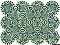 Circular Gears - These overlapping circles give off the impression of gear-like circular movement. Try to make the motion stop.
