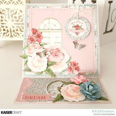 Have you seen the two beautiful October Kaisercraft Collections? Mint Wishes and Rose Avenue will keep you creating all month long! K Crafts, Paper Crafts, Scrapbook Cards, Scrapbooking, Beautiful Handmade Cards, Easel Cards, Rose Cottage, Card Tags, Cardmaking