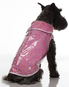 Legitimutt Plastic Cover Over Cotton Dog Raincoat, Size 10, Pink Daisy ** Trust me, this is great! Click the image. : Dog coats
