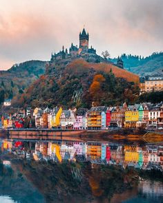 Cochem Germany Photo by . Cochem Germany Photo by . Oh The Places You'll Go, Places To Travel, Travel Destinations, Places To Visit, Cochem Germany, Medieval City, Medieval Castle, Nature Living, Hallstatt