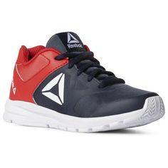 2466d57960d Reebok Shoes Unisex Rush Runner - Pre-School in Collegiate Navy Primal Red  Size
