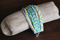 Manchette ENAPAY, brésilien et tissage de Miyuki · Bracelets · Boutique L'Amérindienne · Création et vente de bijoux fantaisie faits main