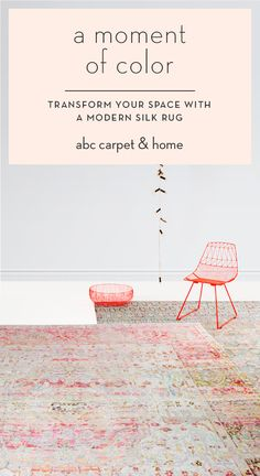 Enjoy a moment of Color! Transform your space with a modern silk run=g