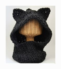 Animal Ear Hood / Hooded Cowl / Wolf Hat / by ArtandFoundApparel