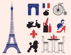 Free Vectors - Paris Icons & Silhouette