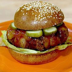 Rachael Ray's Bacon Wrapped Chipotle Burgers