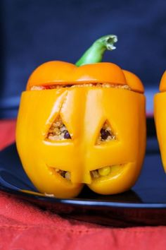 We're+Officially+Obsessed+With+Stuffed+Bell+Pepper+Jack-O-Lanterns  - Delish.com