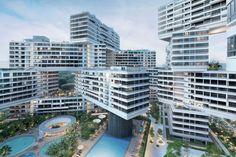 A cidade vertical projetada pelos escritórios OMA e Buro Ole Scheeren em Singapura, conhecida como The Interlace, foi eleita o Edifício do Ano 2015...