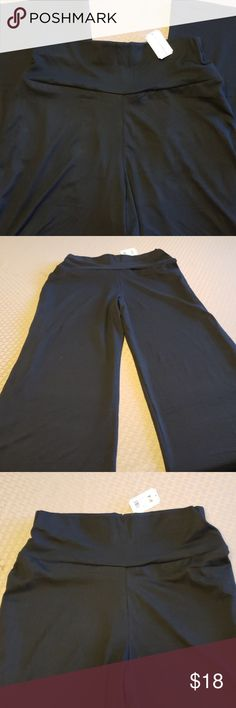Nicole collection wide leg trousers palazzo S slate M navy black L teal