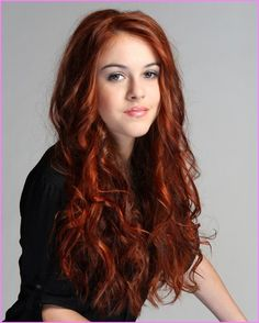 Long red hair color with color wand hair coloring tools Prom Hairstyles For Short Hair, Spring Hairstyles, Hairstyles With Bangs, Red Bob Hair, Long Red Hair, Orange County, Hair Styles 2016, Short Hair Styles, Auburn