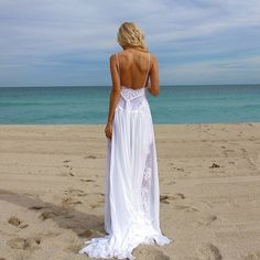Sexy Beach Wedding Dress Monica by YoungSexySunny on Etsy