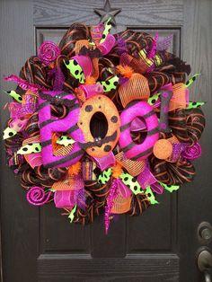 BOO Halloween Mesh Wreath
