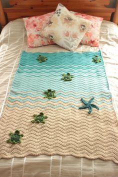 Crochet Sea Turtle Blanket The Effective Pictures We Offer You About Crochet patterns A quality picture can tell you many things. Crochet Baby Blanket Beginner, Crochet Blanket Patterns, Crochet Stitches, Beginner Crochet, Afghan Crochet, Beach Crochet, Crochet Turtle, Manta Crochet, Beach Blanket