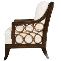 Palecek: Carlo Chair Side View  avail. at: www.schoenfeldinteriors.com