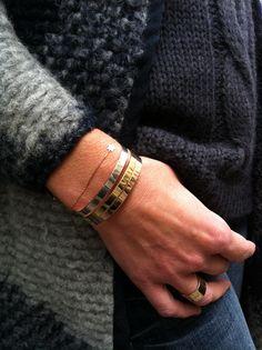 Bracelet Jonc Perles d'Au