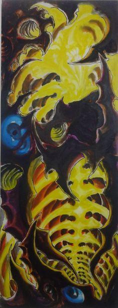 Sem titulo  Dimensões - 110x42 cm  Técnica - Óleo sobre tela 2012