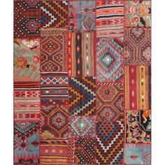 """I pinned this La Boheme Vintage Turkish Patchwork 8'2"""" x 9'10"""" Rug II from the Taaj Studios event at Joss and Main!"""