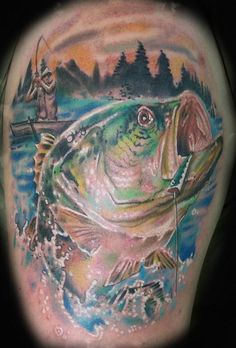 fishing tattoos | Bass Fishing Tattoo : Tattoos :