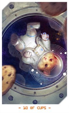 Space Hamster as 10 of Cups -- Mass Effect Tarot Cards