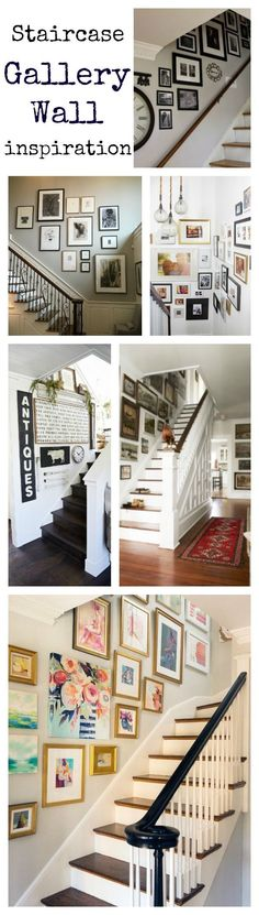 Staircase gallery wall inspiration via Life on Shady Lane blog
