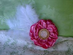 Glamorous Gatsby Pink Hair Clip with by BeadLovinCreations on Etsy