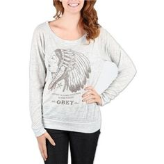 Obey Clothing Good Relation To Earth Crew Sweatshirt Women's 2012 - XS Obey Clothing. $36.90